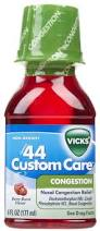 Vicks Formula 44 Custom Care Congestion Liquid 6 oz